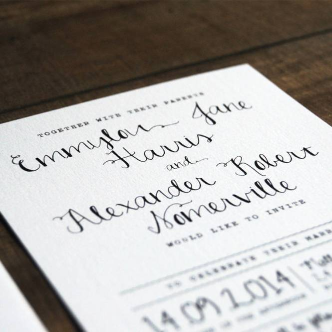 Calligraphy Wedding Invitation Stationery