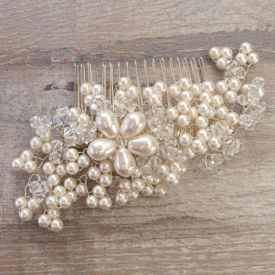 maya pearl bridal hair comb