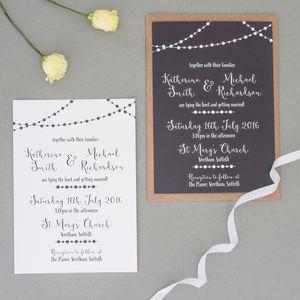 Fairy Light Wedding Invitation And Rsvp Invitations