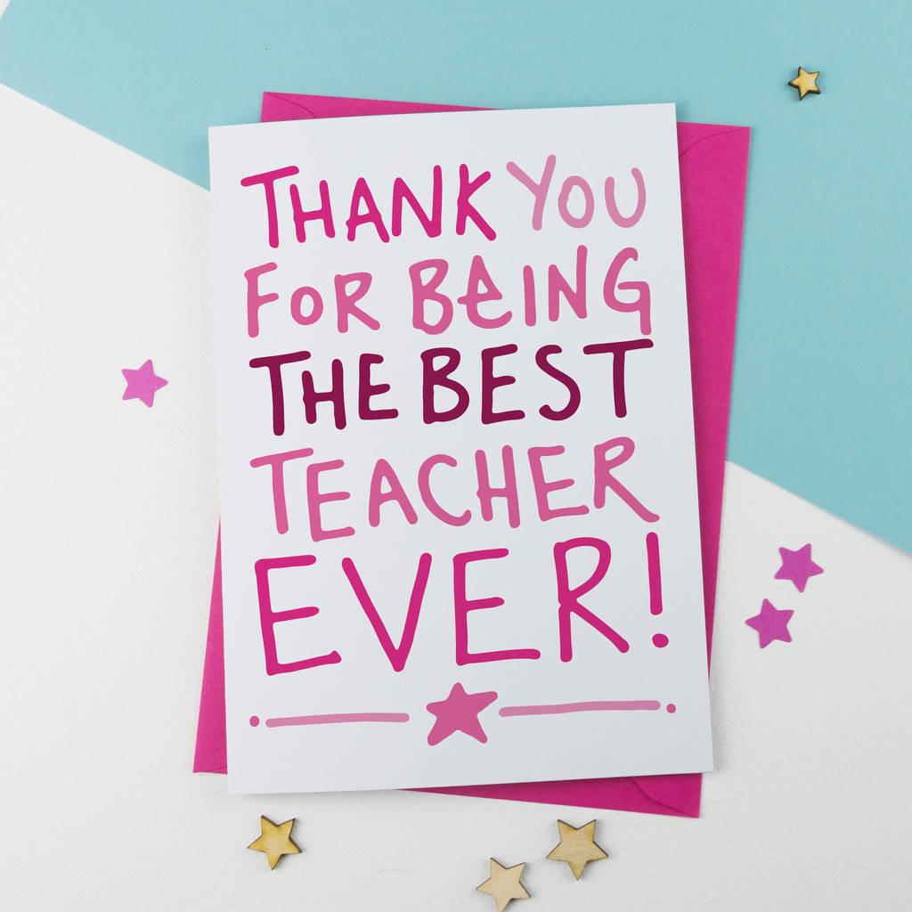 Teacher Thank You Card By A Is For Alphabet