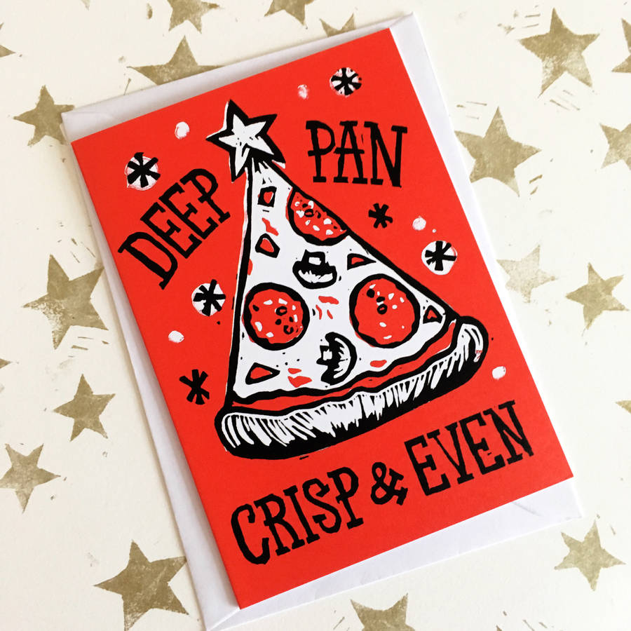 Christmas Card Packs Funny Pizza Cards In Five Or 10 By