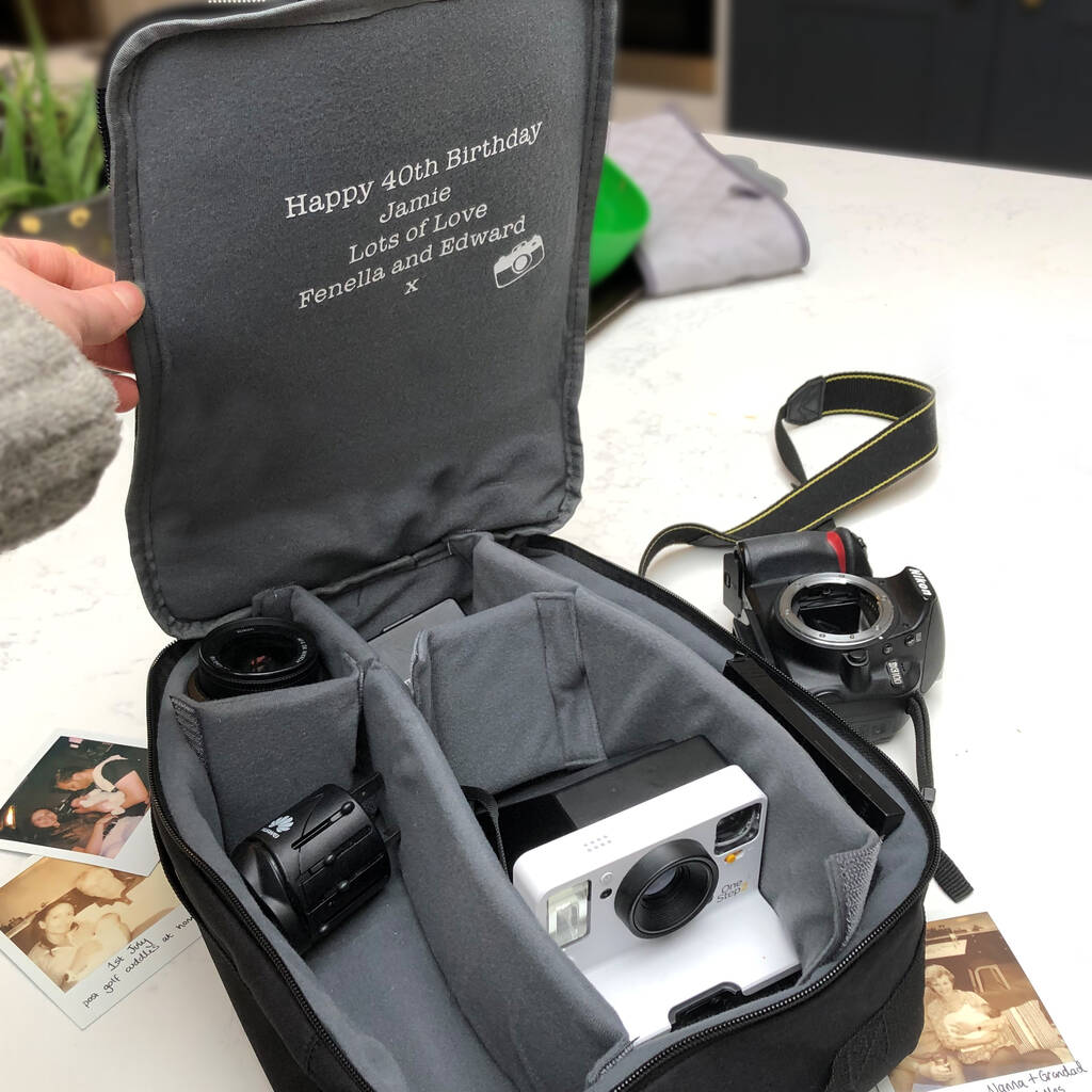 Personalised Hidden Message Camera Bag By Solesmith