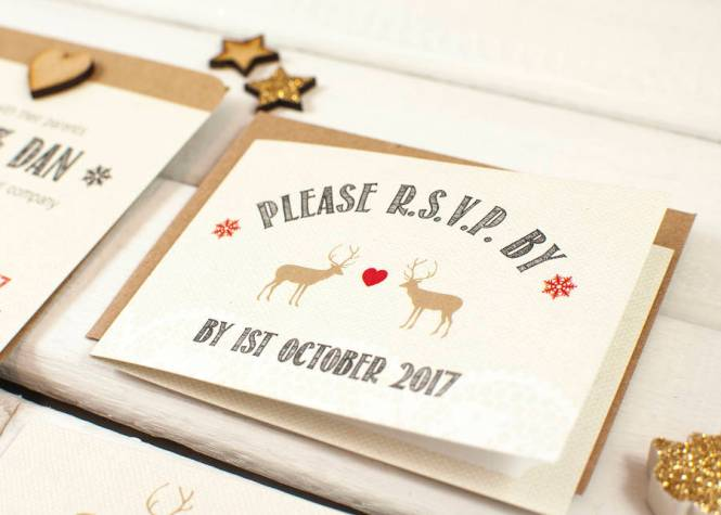 Make Christmas Wedding Invitations