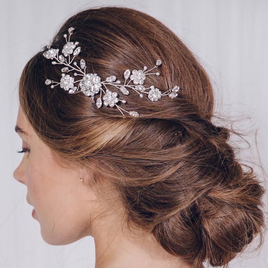 small crystal bridal hair vine comb small sydney