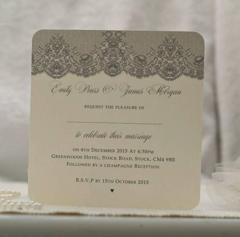 Antique Lace Design Wedding Invitations