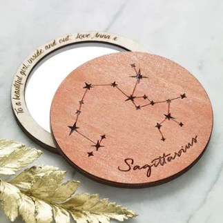 Horoscope Compact Mirror cheap gift ideas for teen girls