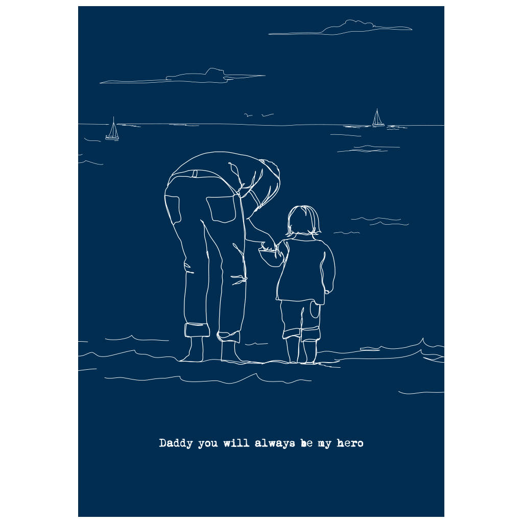 Personalised Father S Day Drawing From Your Own Photo By