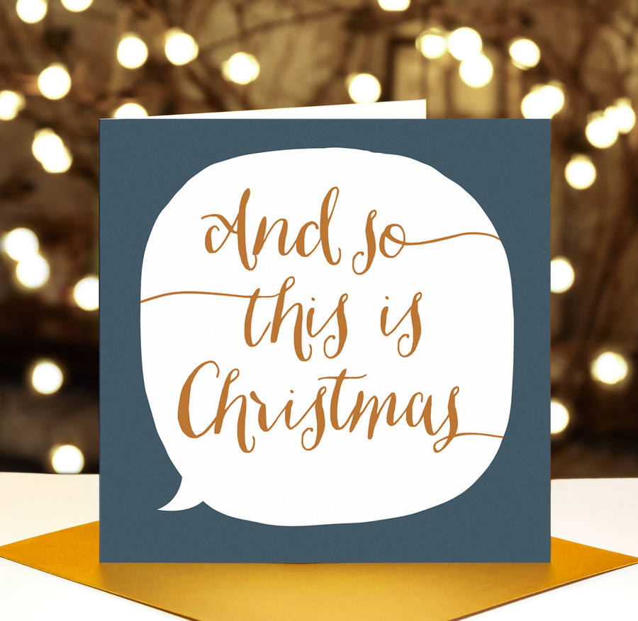 Luxury Calligraphy Christmas Cards By Paper Plane
