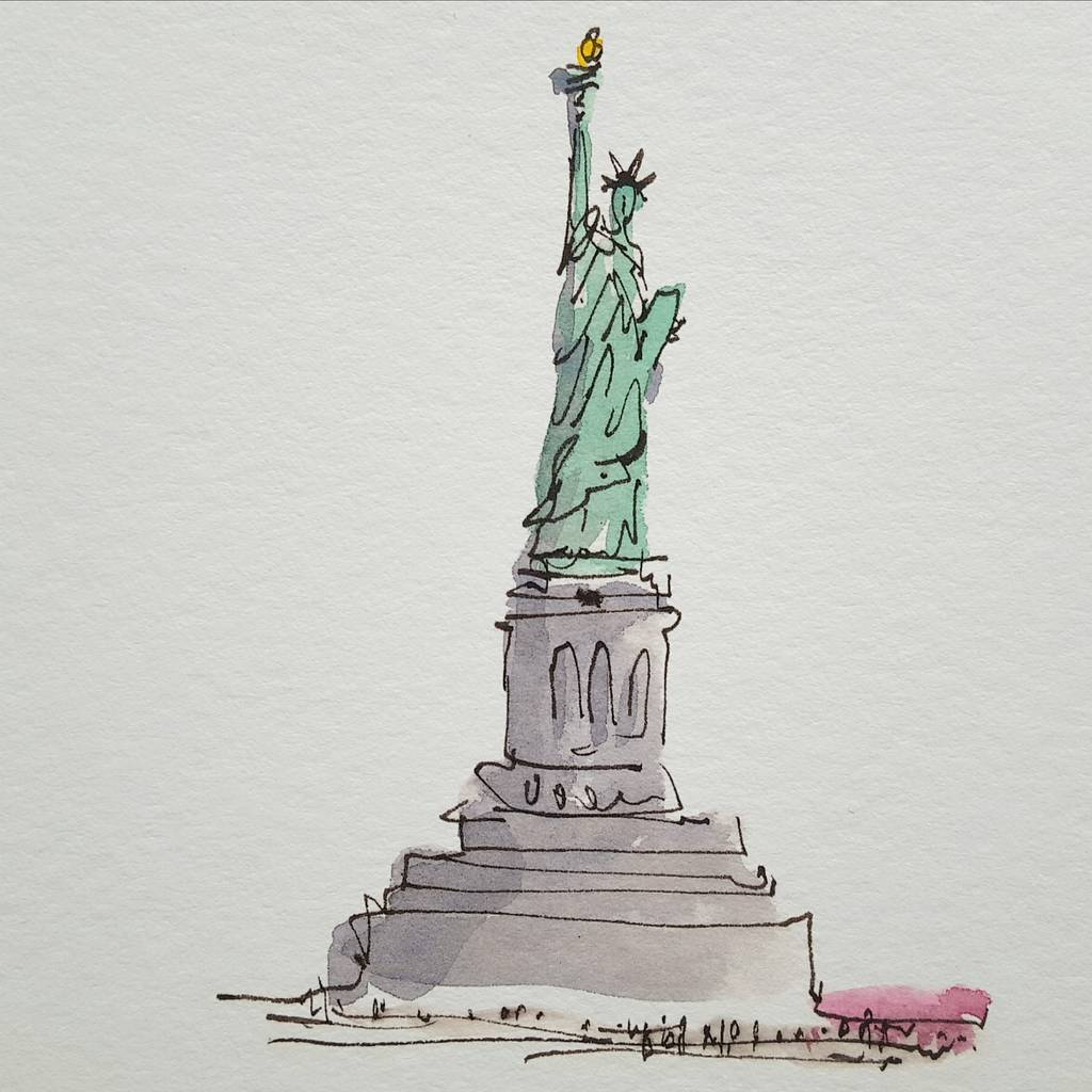 Statue Of Liberty New York Giclee Print By Chris Gent