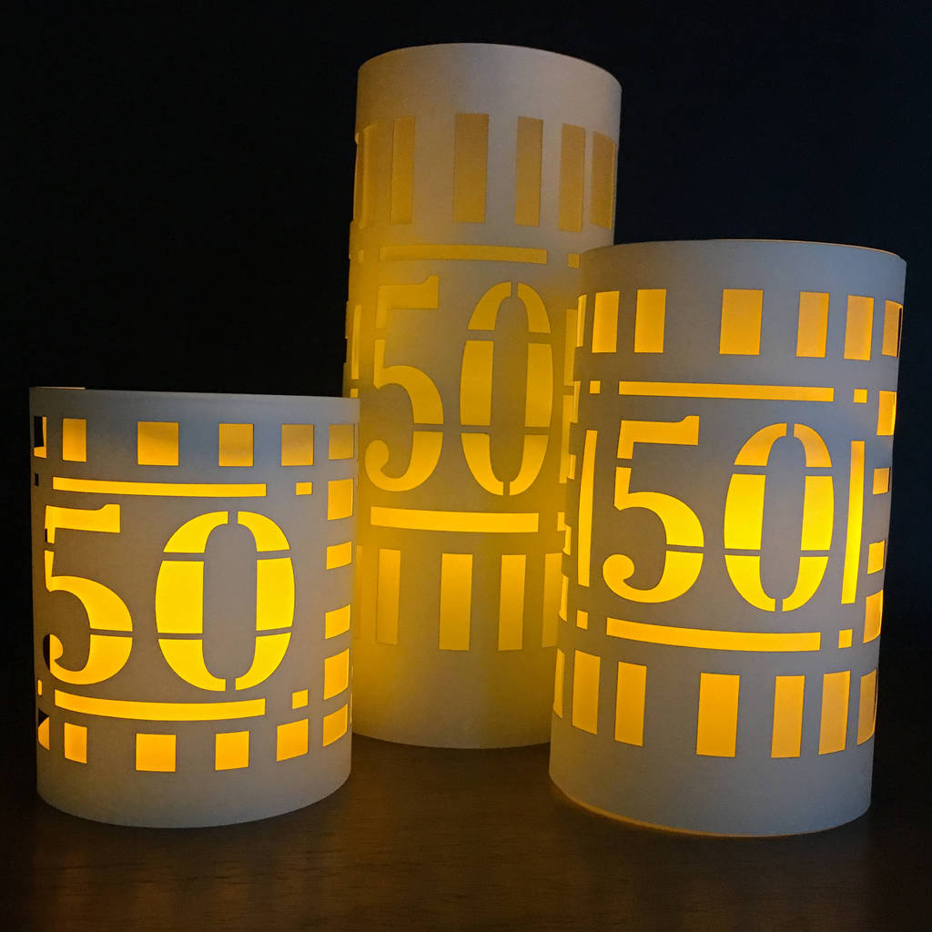Papercut 50th Birthday Table Three Party Decorations By Baloolah Bunting Notonthehighstreet Com