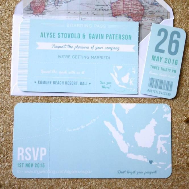 Turquoise C Swirls Usa Map Boarding P Destination Wedding Invitations