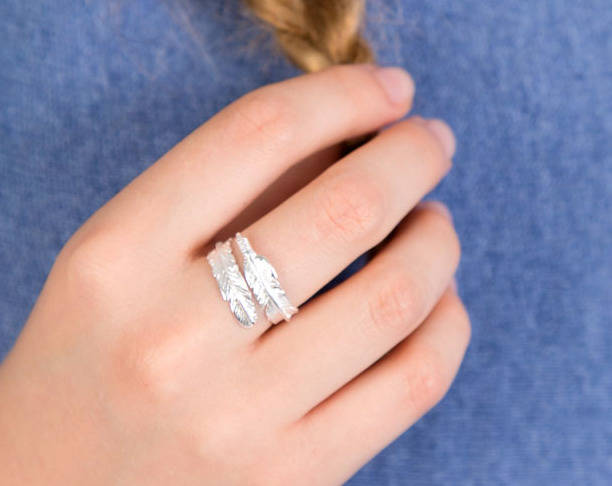 Feather Sterling Silver Adjustable Ring By Lovethelinks