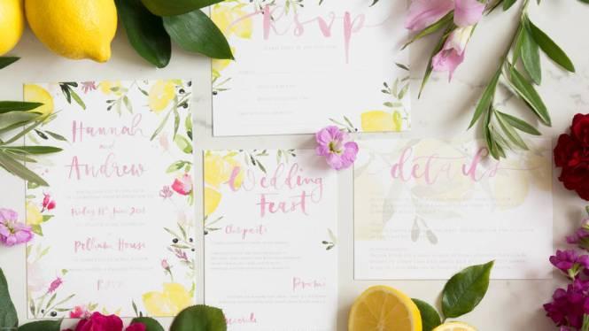 Italian Soro Fl Watercolour Wedding Invitations