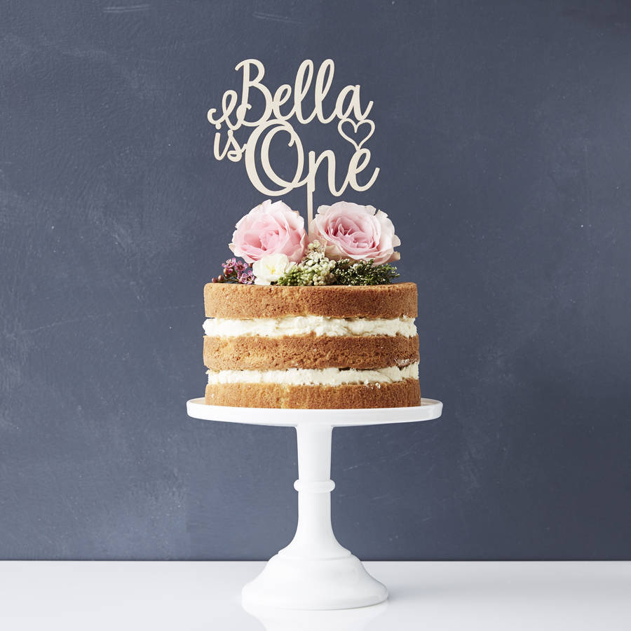 Personalised Children S Birthday Cake Topper By Sophia Victoria Joy Notonthehighstreet Com