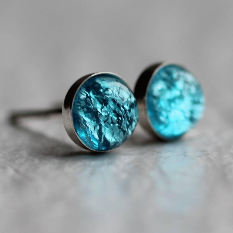 Turquoise Sterling Earrings Teardrop Silver