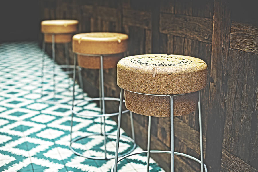 Champagne Cork Tall Bar Stool By Impulse Purchase