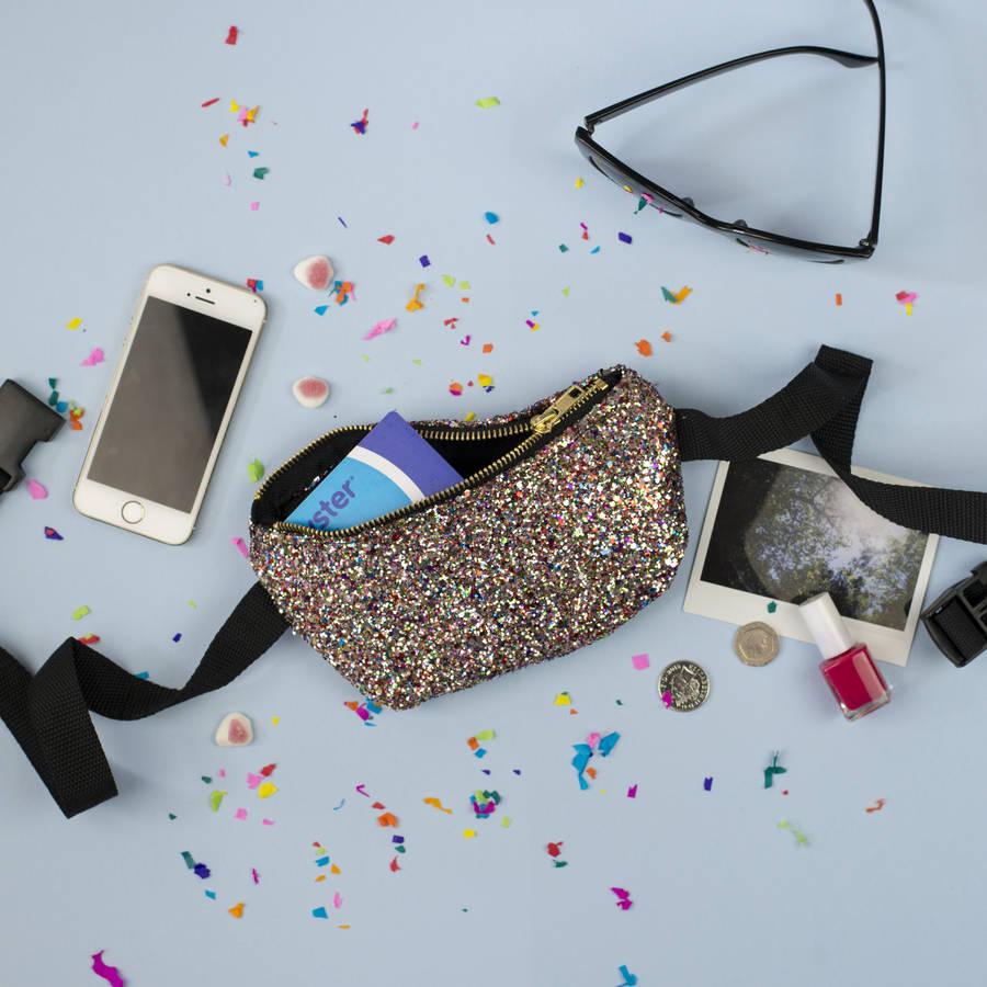 Glitter Party Bum Bag By Pup Tart Handmade