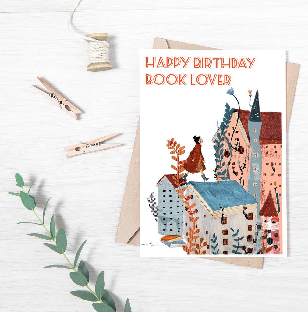 Happy Birthday Book Lover Card By Bedcrumb Notonthehighstreet Com