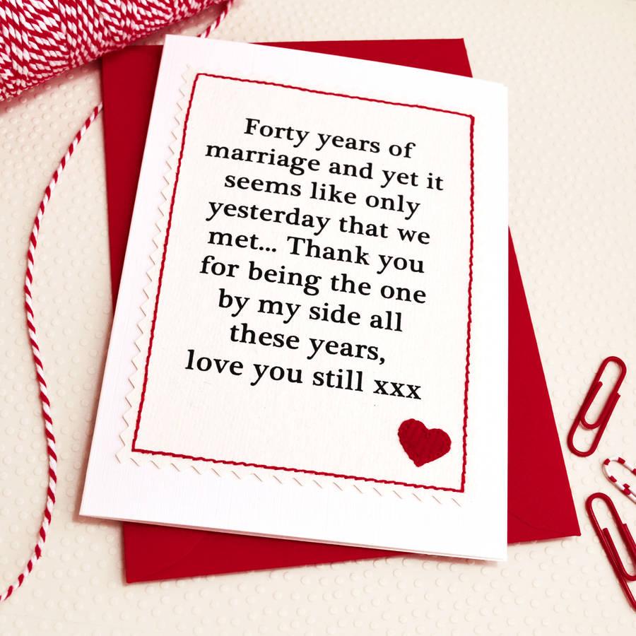 Handmade Wedding Anniversary Card By Jenny Arnott Cards
