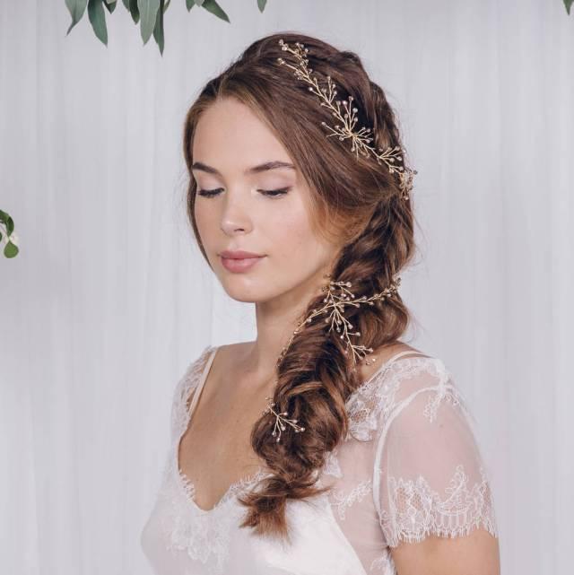 simple wedding headband or hairvine amy
