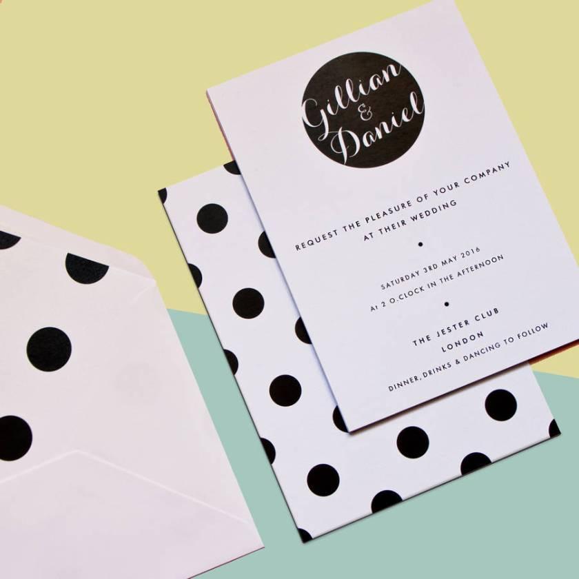 Polka Dot Dotty Wedding Invitation By Skinny Malink Monicamarmolfo Gallery