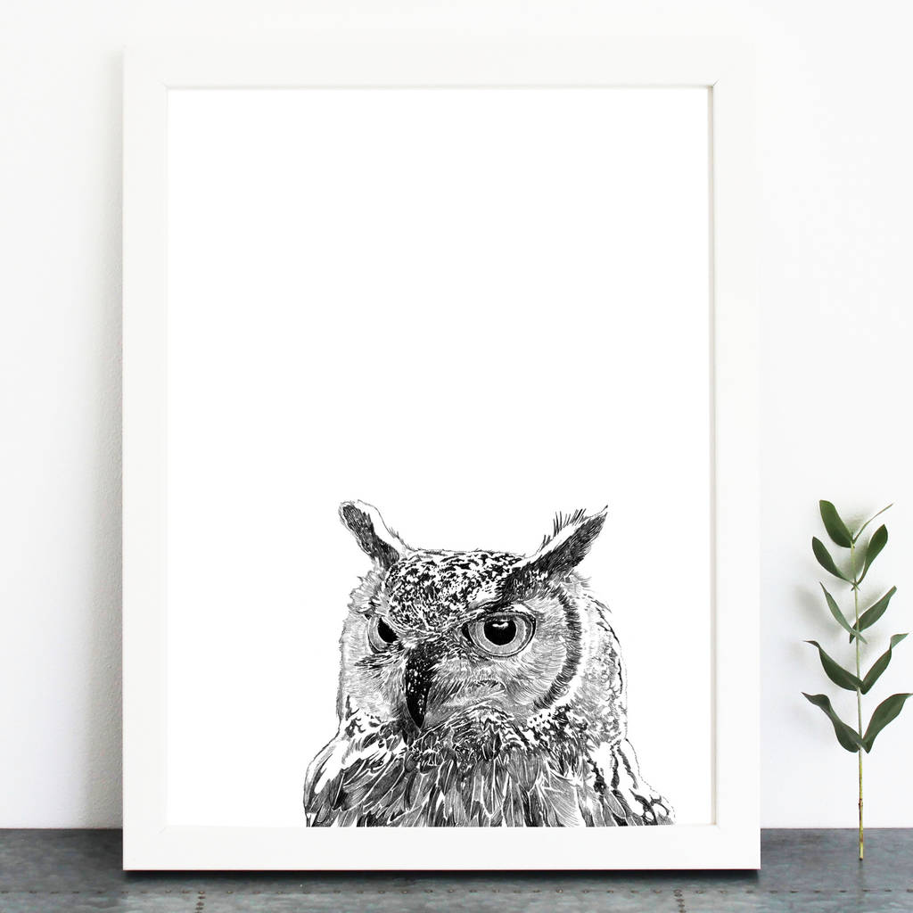 Owl Print By Ros Shiers