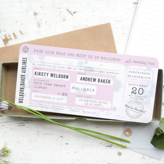 Astounding Boarding P Wedding Invitations Template 39 For Free Printable With