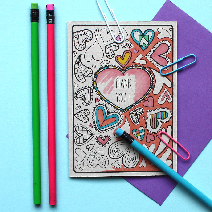 gt adam regester art and illustration gt thank you colouring card