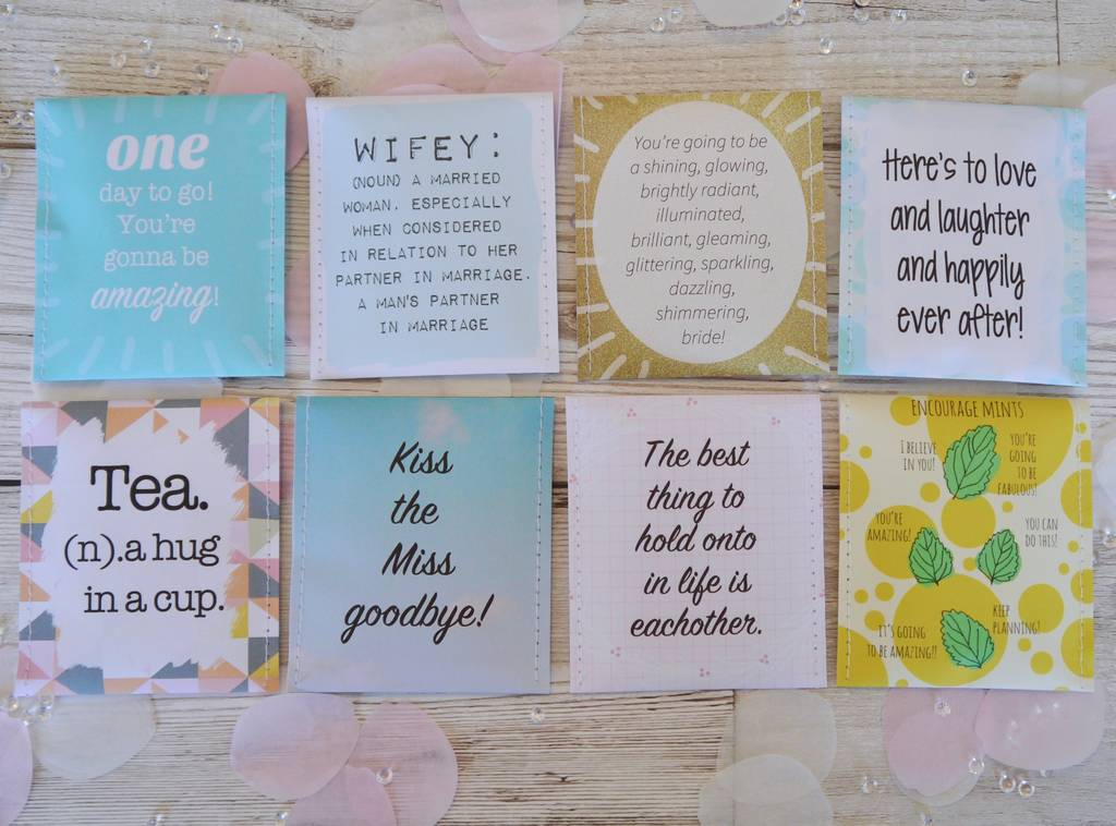 Wedding Countdown Tea Gift Set For Bride By Victoria Mae