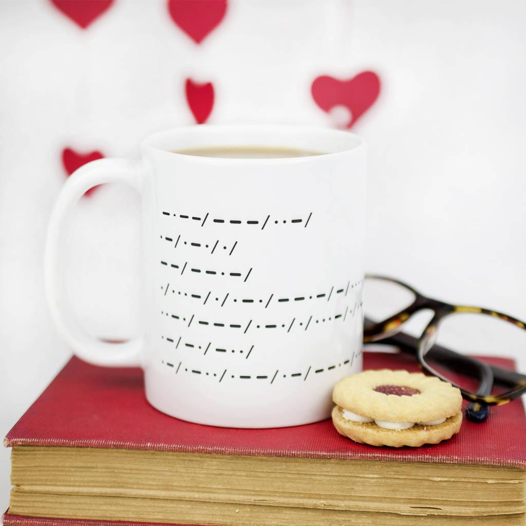 Morse Code Personalised Message Ceramic Mug By Ellie Ellie