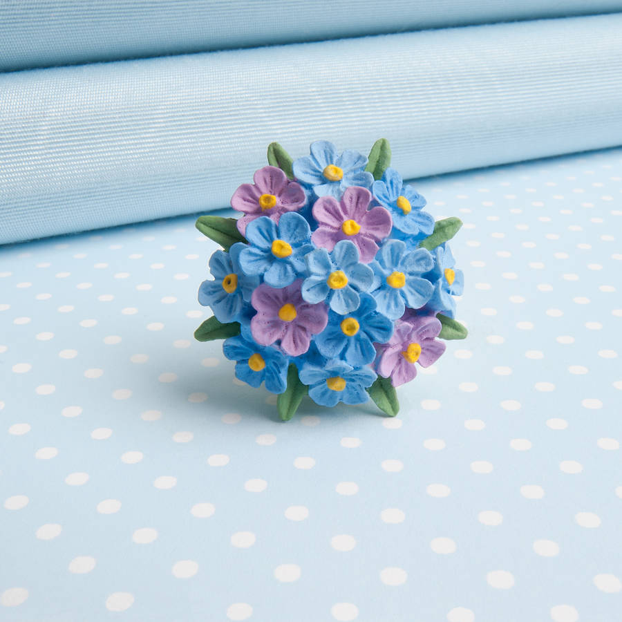 forget me not brooch by good intentions   notonthehighstreet com Forget Me Not Brooch