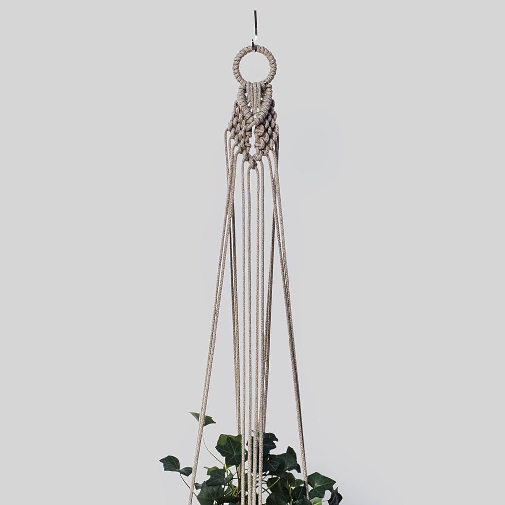 Macrame Plant Hanger The Collar In Hemp Cord By Koala