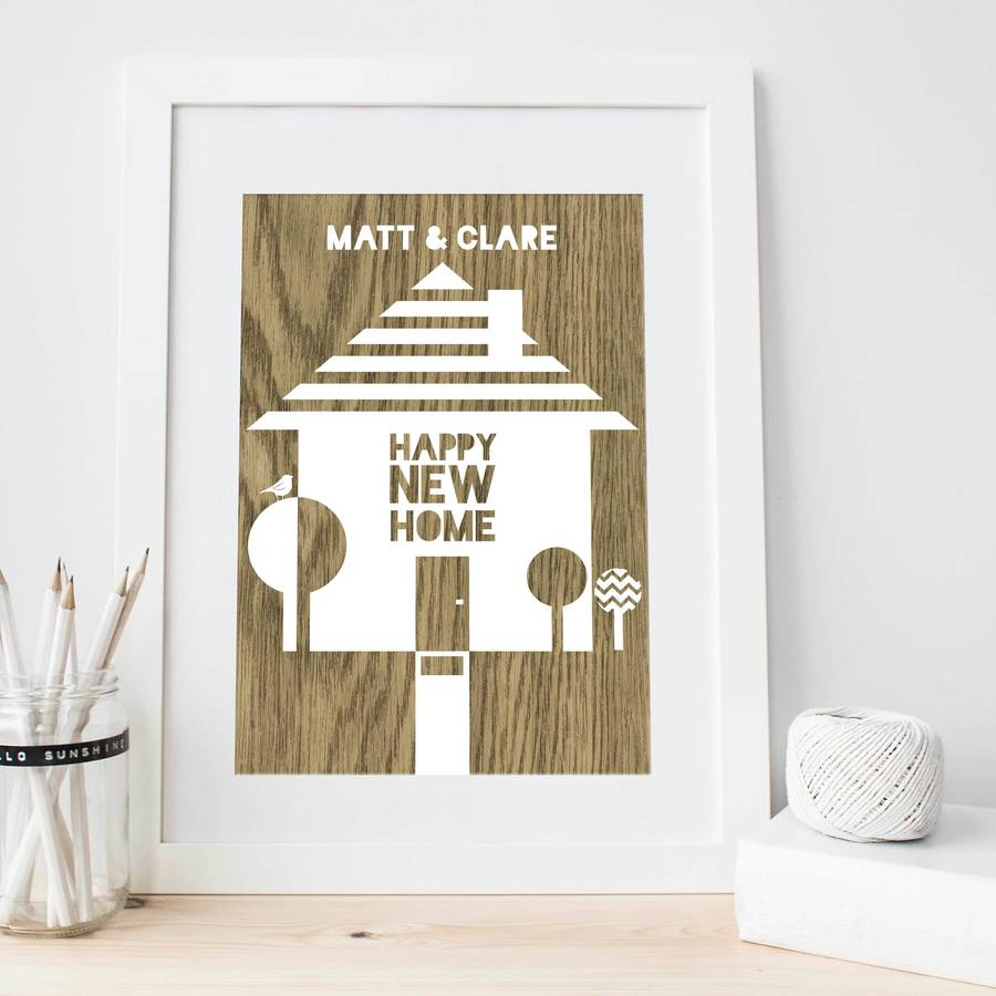 Happy New Home Print By Bonjour Pony