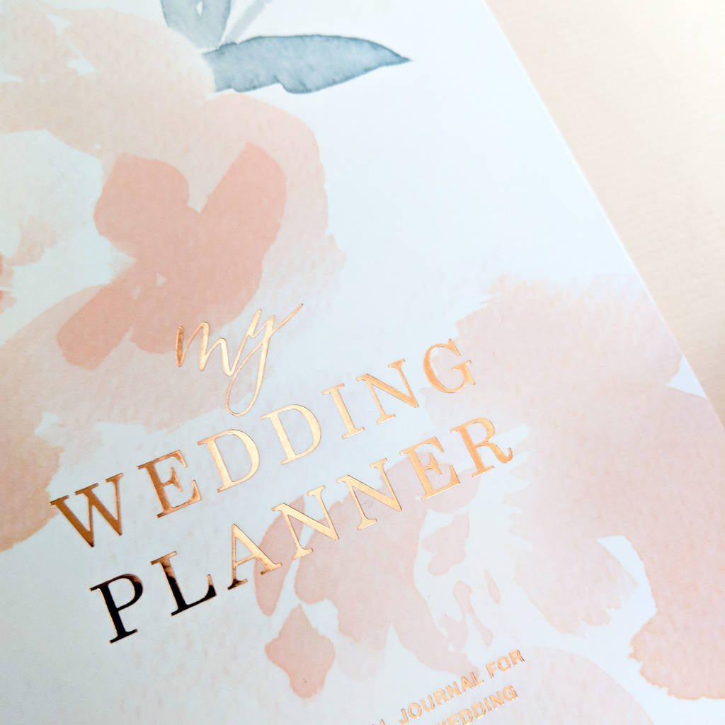 Engagement T Wedding Planner Rose Gold Peonies By
