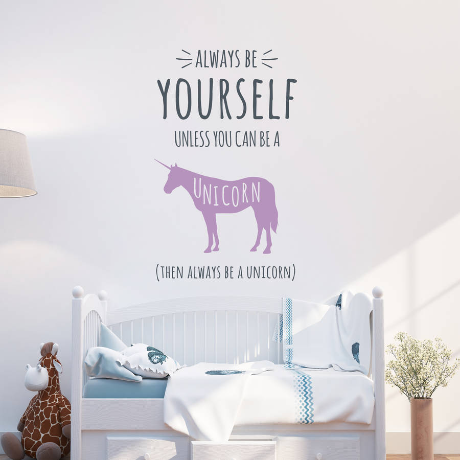 Always Be A Unicorn Wall Stickers By Parkins Interiors