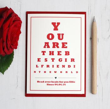 Personalised Best Girlfriend Card By Precious Little