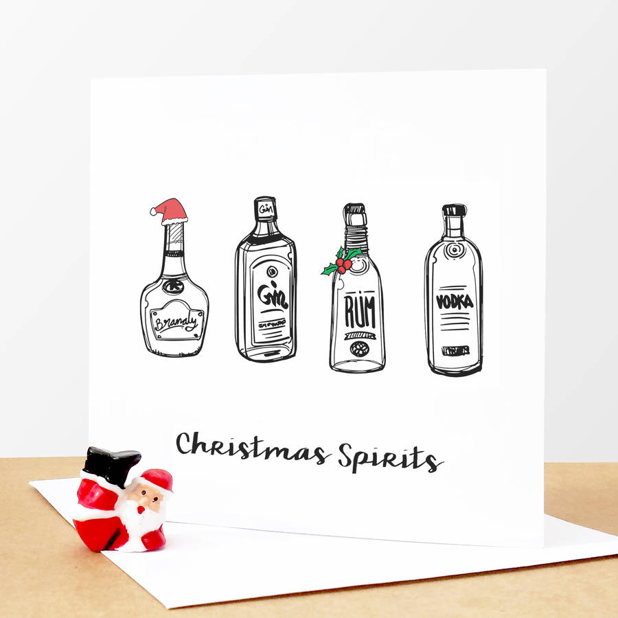 Christmas Spirits Funny Christmas Card By Of Life