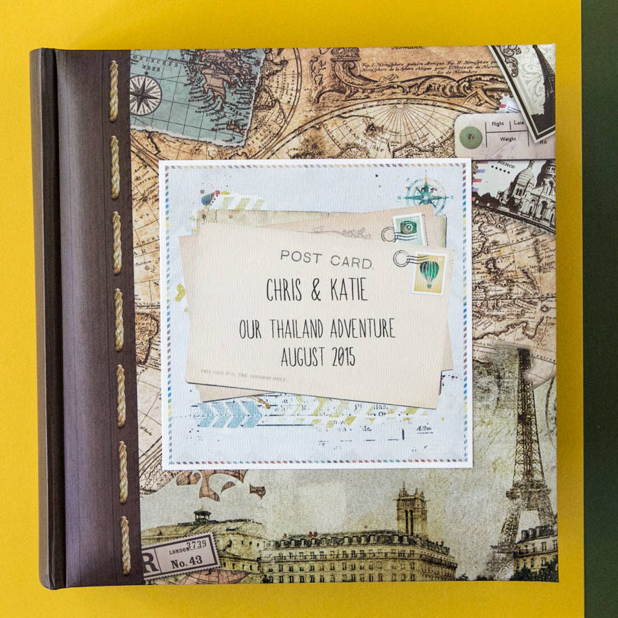 Personalised Travel Photo Album By 2by2 Creative