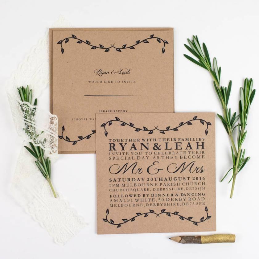 Tuscan Romance Wedding Invitation Bundle