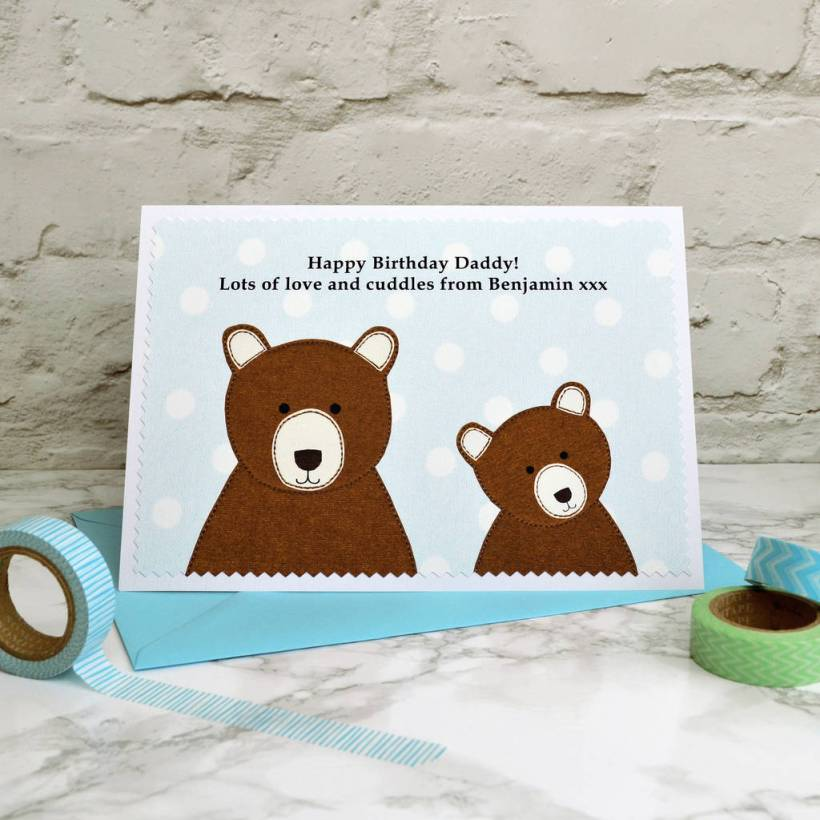 Daddy Bear Personalised Birthday Card From Children By Jenny Arnott