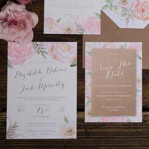 Fl Fancy Wedding Invitation