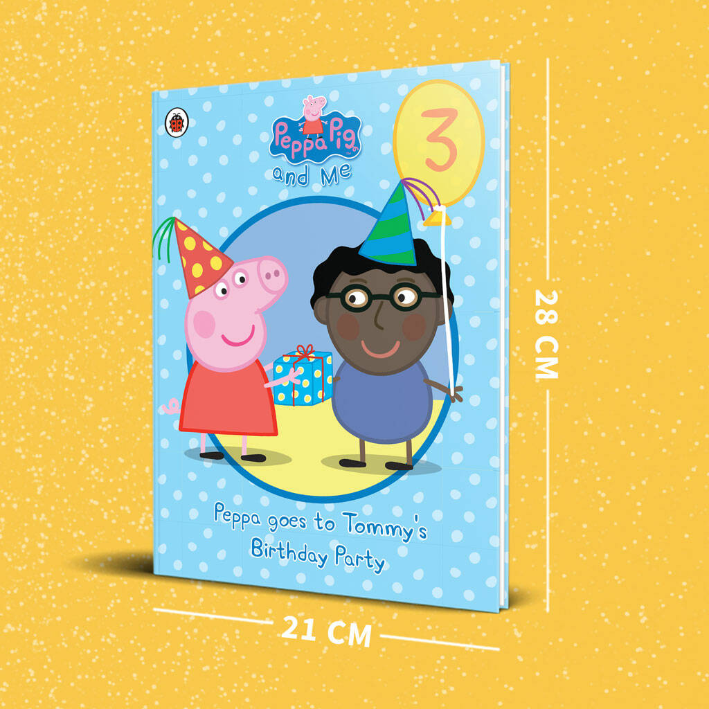 Peppa Pig Birthday Party Blue Personalised Book By Penwizard Notonthehighstreet Com
