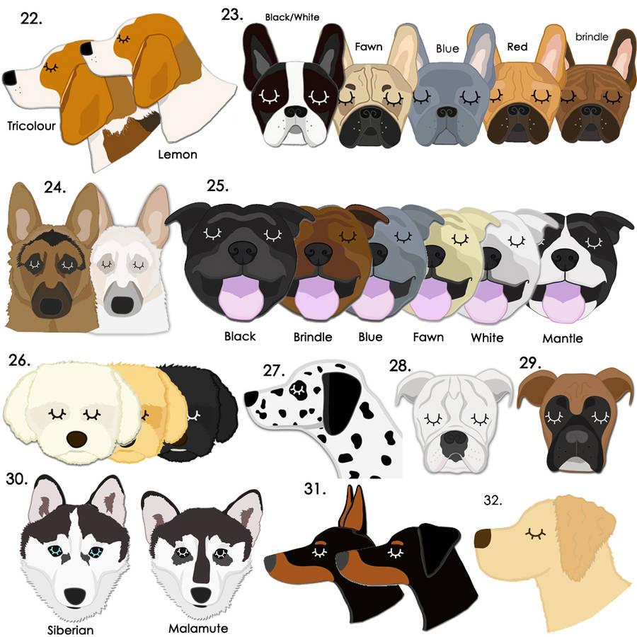Personalised Dog Breed Id Tag By Hoobynoo