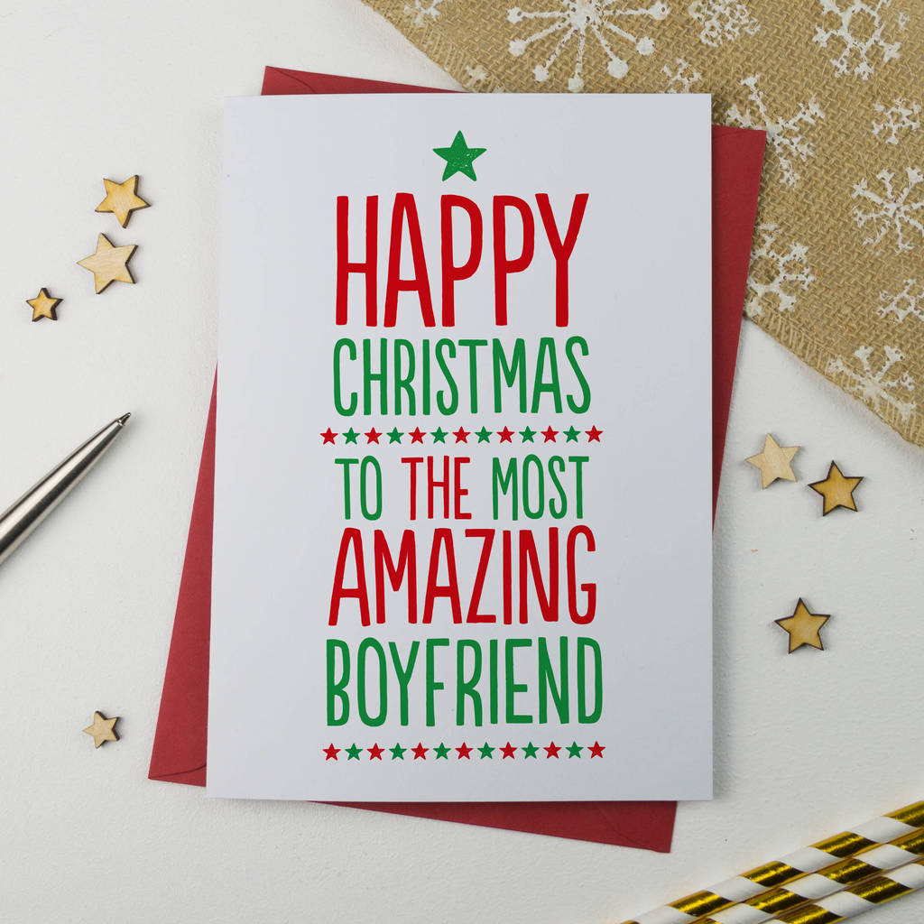 Christmas Card For Boyfriend By A Is For Alphabet