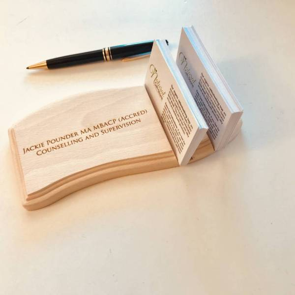 personalised business card holder by natural gift store     Personalised Business Card Holder