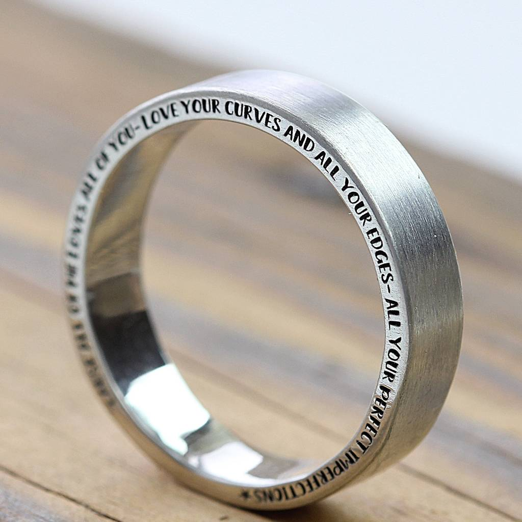 The Halo Personalised Silver Ring By Morgan Amp French