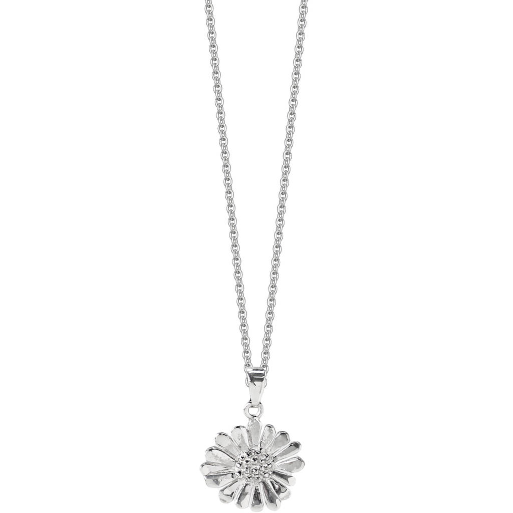 Silver Daisy Necklace By Hersey Silversmiths