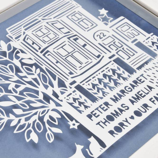 Personalized Family Tree Gift Papercut
