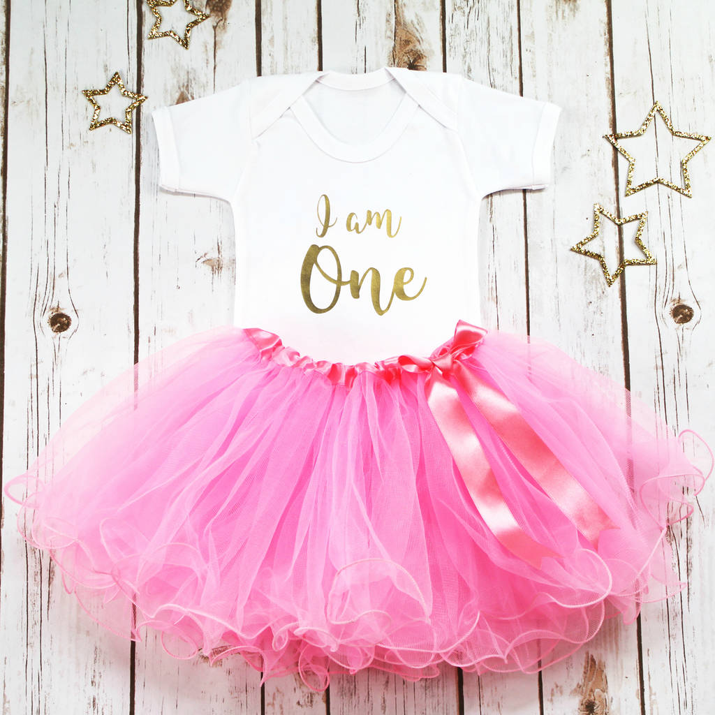 First Birthday I Am One Baby Girl Tutu Outfit By Betty Bramble Notonthehighstreet Com