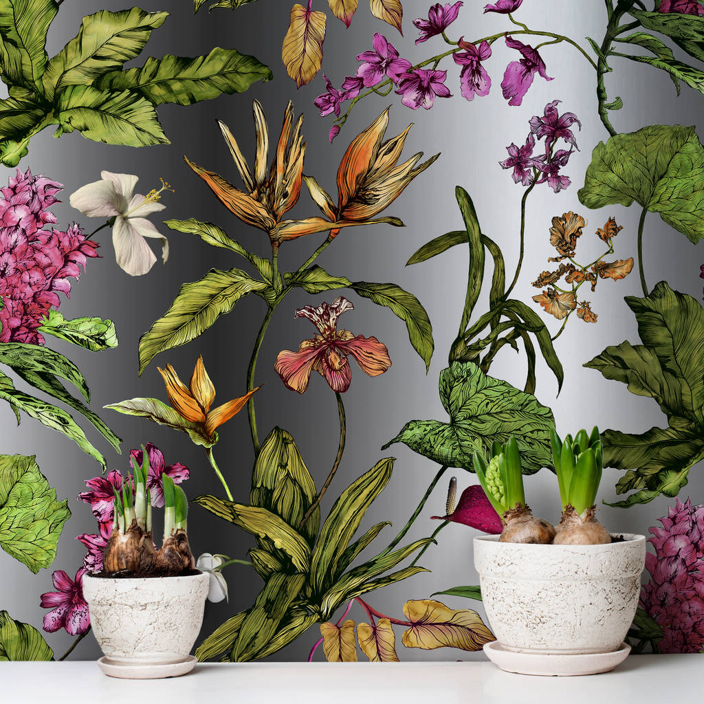 Tropical Hothouse Botanical Wallpaper By Terrarium Designs Notonthehighstreet Com